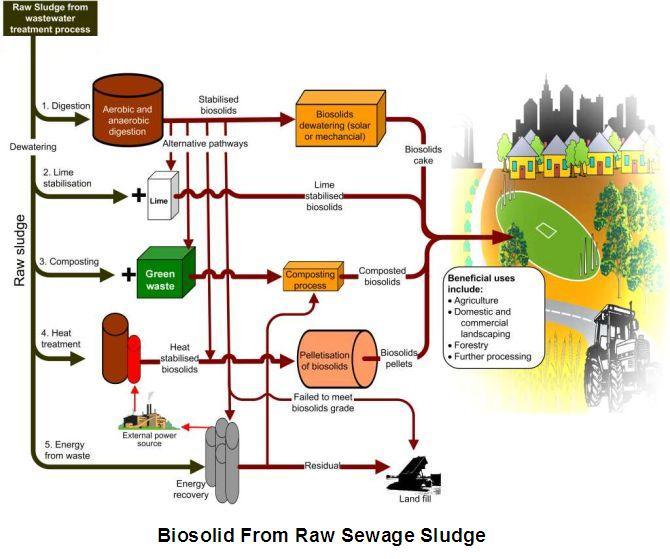 Sewage treatment for recycling of waste water use of biosolids sewage treatment process1 biosolids treatment process2 sciox Gallery